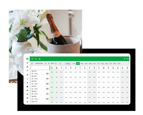 BedBooking reservation calendar room price information